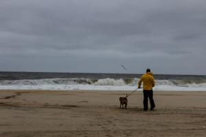 This was the day before Sandy. My husband and Bradley...insane.