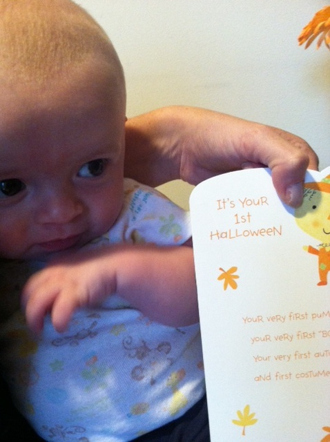 Liam and his card! :) I received this with an I love you too text!